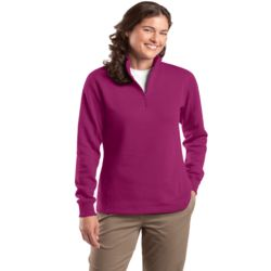Ladies 1/4-Zip Sweatshirt Thumbnail